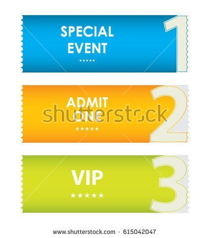 Admit One Tickets Special Christmas Design Stock Vector 114509146 ...