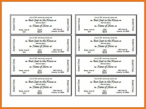 Thermal ticket printing thundertix on demand printing – Show Ticket Template