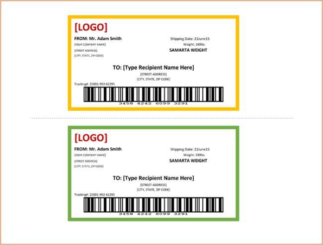 Return Address Label Templates - Print Multiple Labels in 1 sheet