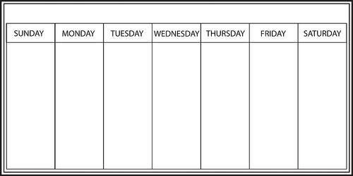 Weekly Calendar   weekly calendar template