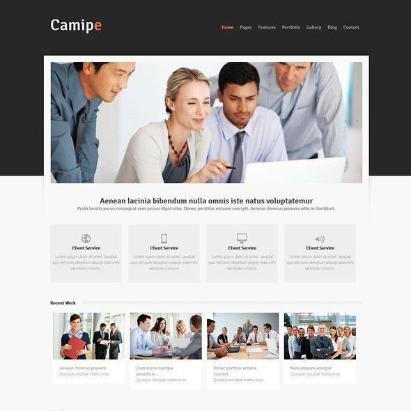 camipe - Responsive Website Template - Responsive Website ...