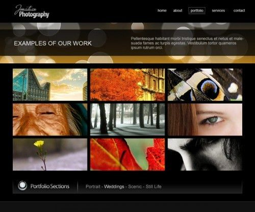 High Quality Free Website Portfolio Photoshop PSD Templates ...