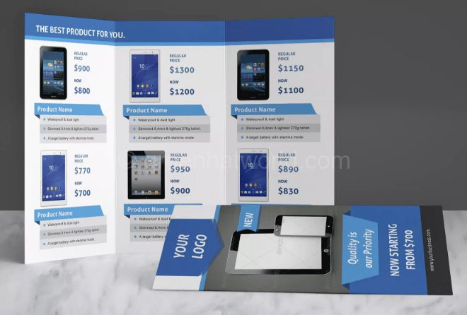 Download Product Trifold Brochure Template Free