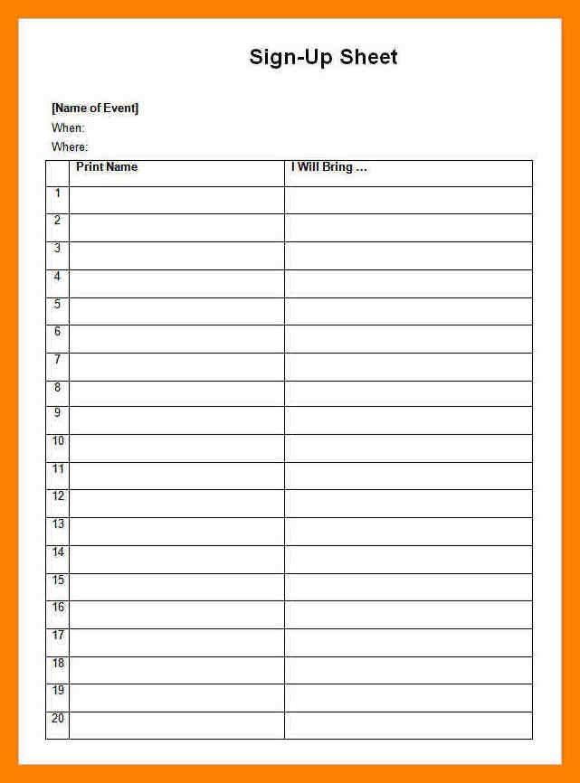 11+ blank sign up sheets | dialysis-nurse