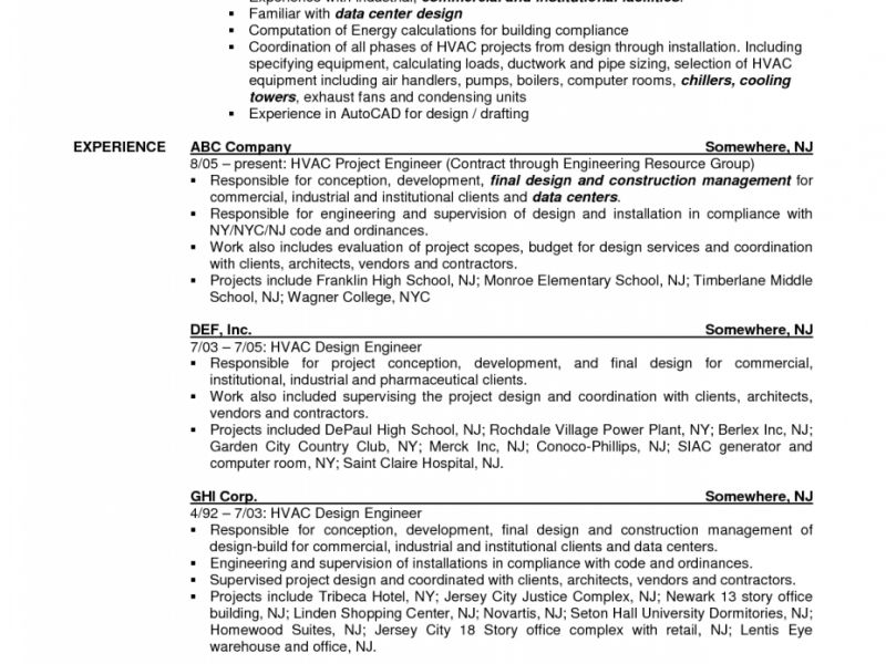 Download Hvac Mechanical Engineer Sample Resume ...