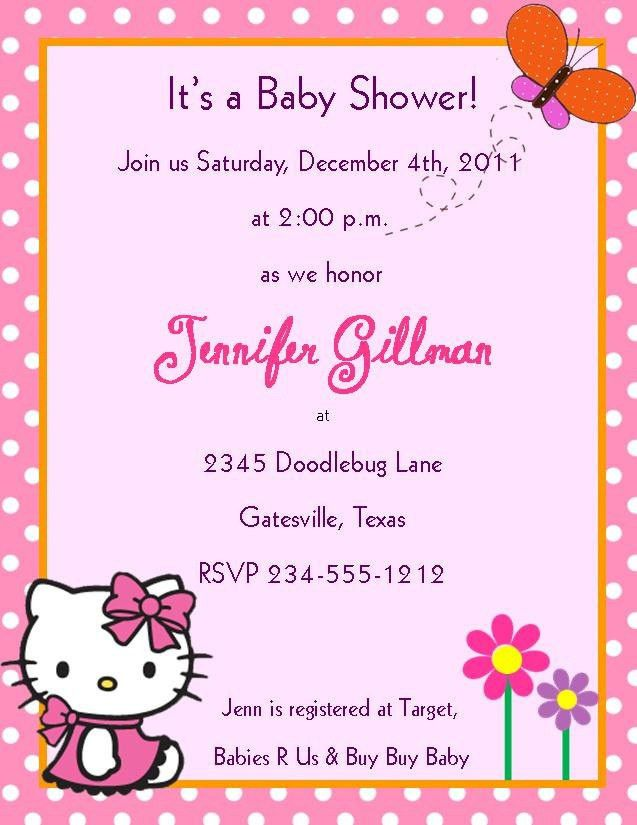 Hello Kitty Baby Shower Invitations – gangcraft.net