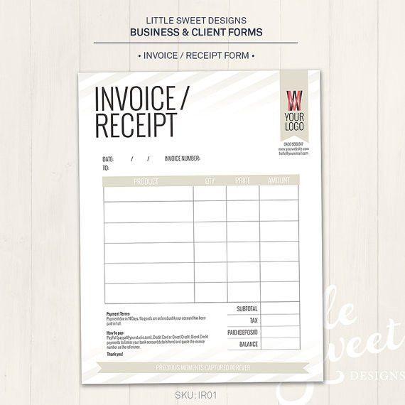 Photography Studio / Invoice Receipt Form Photoshop Template