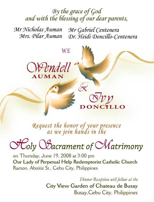 Sample Wedding Invitations   badbrya.com
