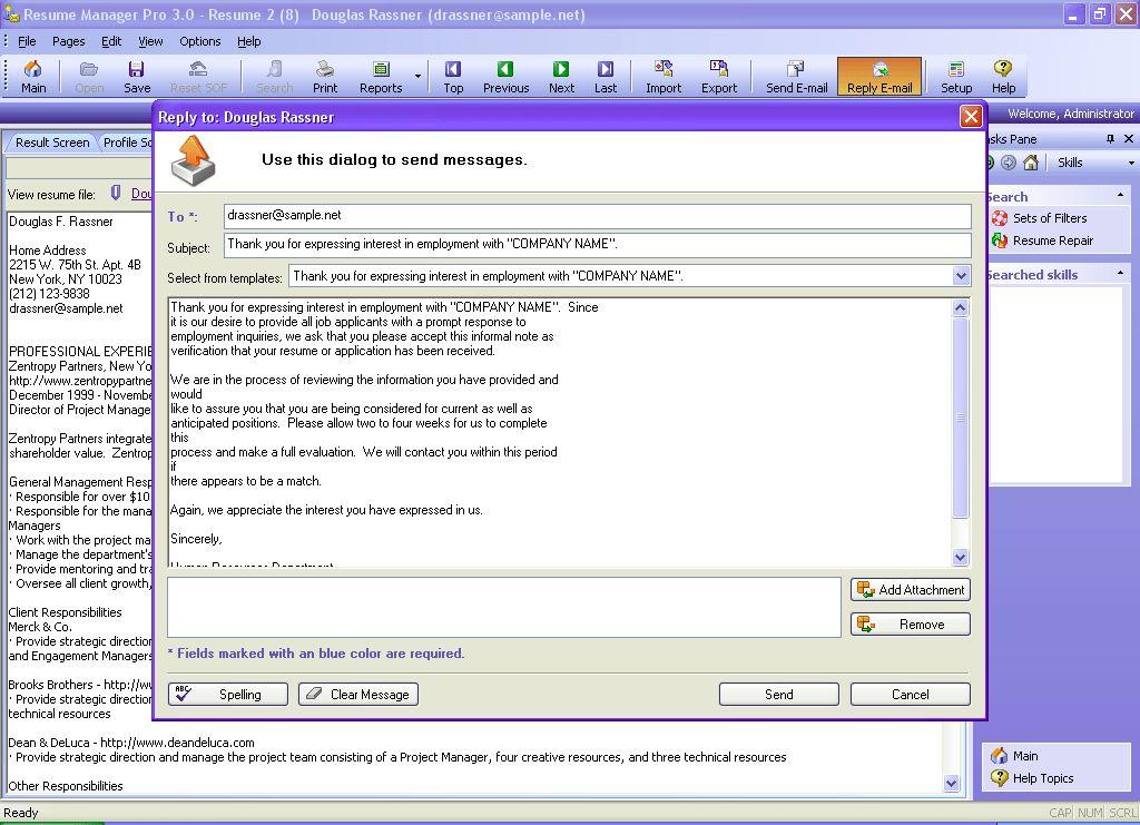 resume attachment format