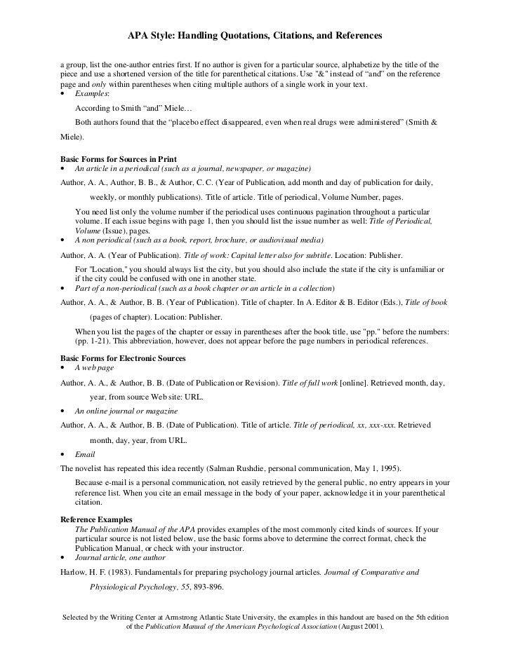 APA Style Citation Format