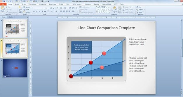 Free Line Chart PowerPoint Template - Free PowerPoint Templates ...