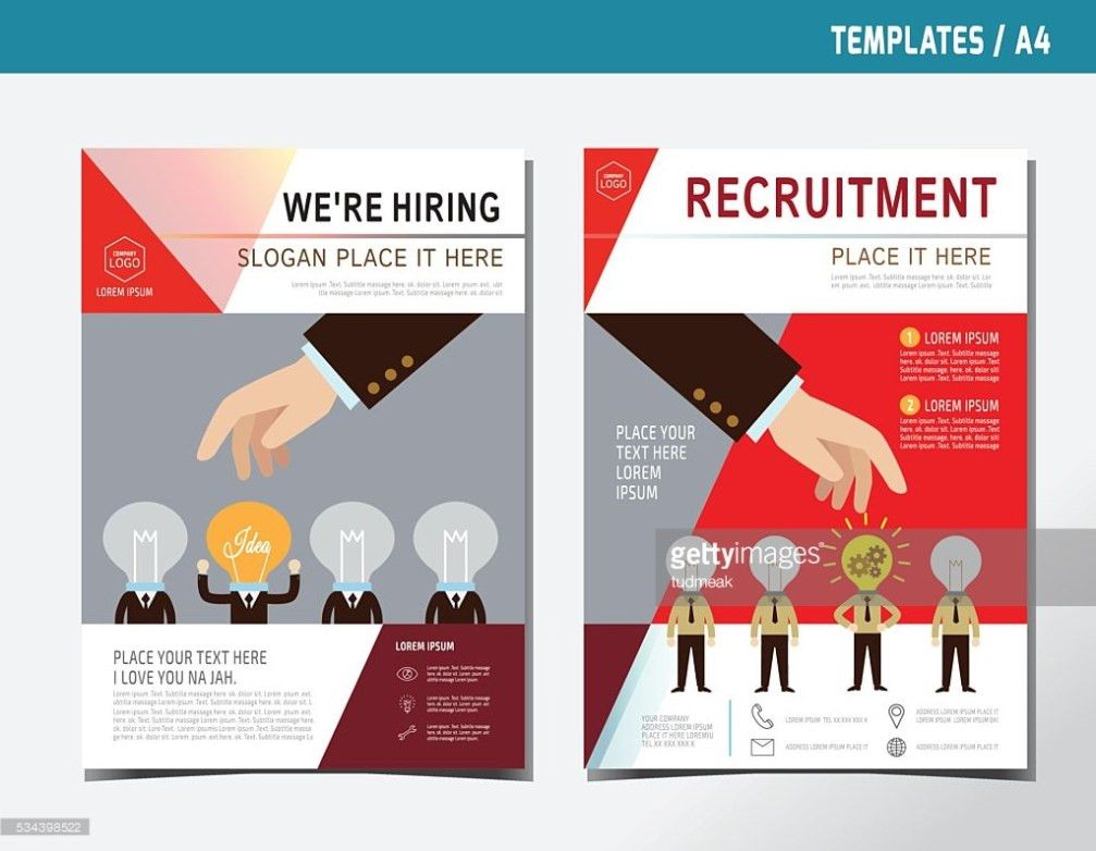 Flyer Leaflet Brochure Template A4 Size Business Hiring ...