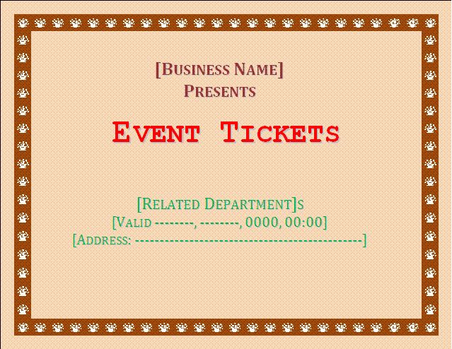 Event Ticket Template | cyberuse