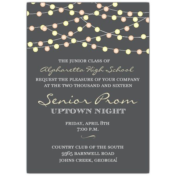 Night+Lights+Prom+Invitations | Party ideas | Pinterest | Prom and ...