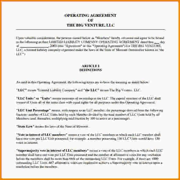 Operating Agreement Template.operating Agreement Template Word.jpg ...