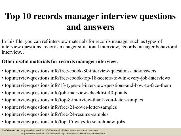 records manager cover letter records manager cover letter sample