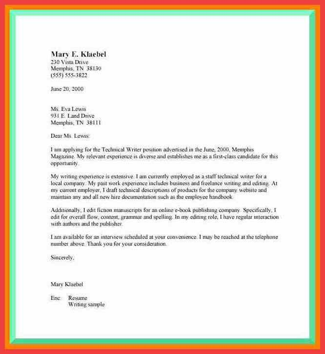 formal cover letter example | memo example