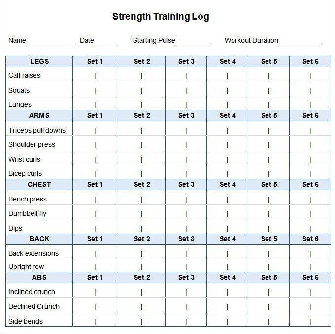 Weekly Workout Timetable Template | EOUA Blog