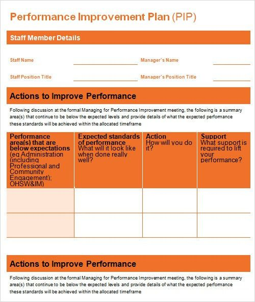 Plan For Improvement Template. sc21 the continuous sustainable ...