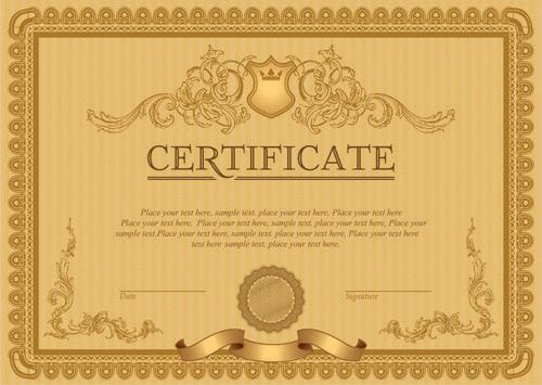 Classic award certificate border free vector download (9,588 Free ...
