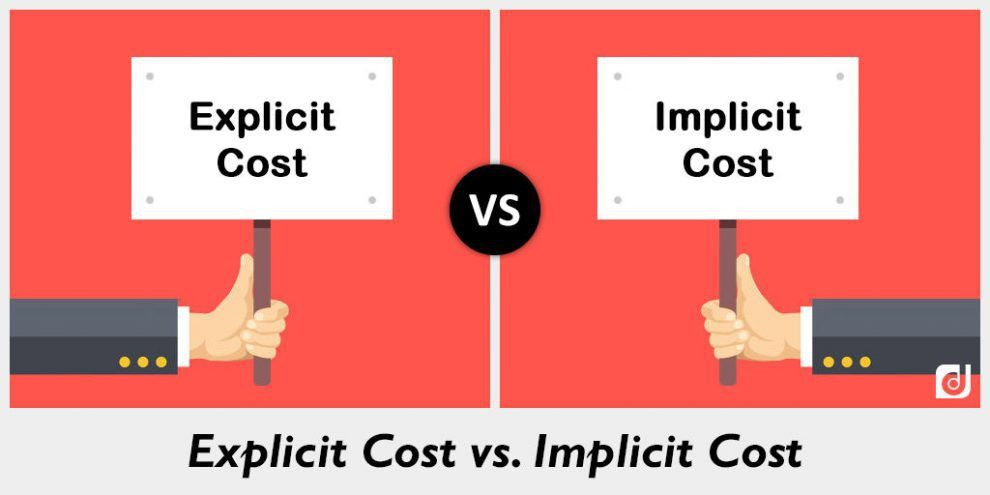 Difference between Explicit Cost and Implicit Cost