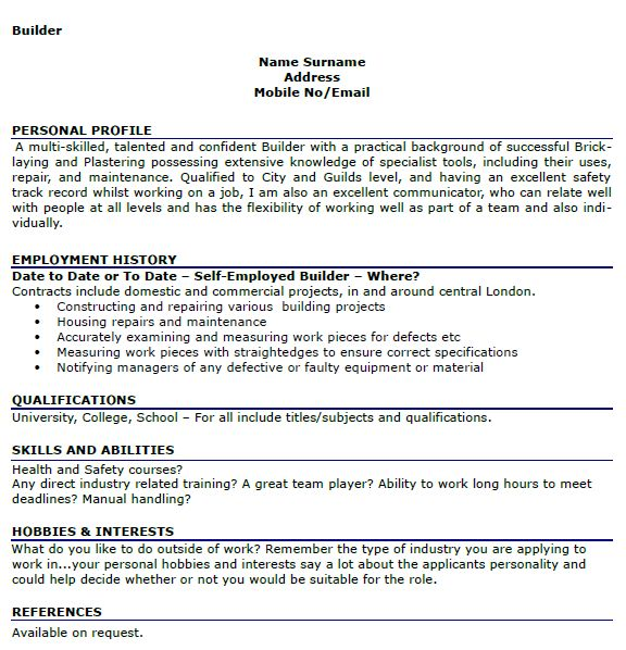 Hobbies Resume Examples] Cv Hobbies And Interests Sample, Hobbies