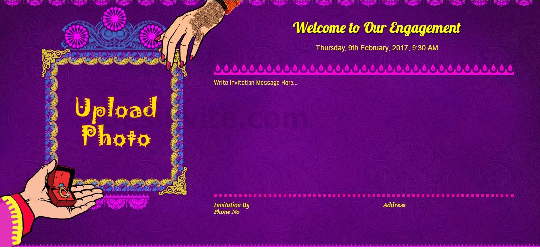 Engagement Invitations Online Templates The 25 Best Engagement – Hindu Engagement Invitation Cards