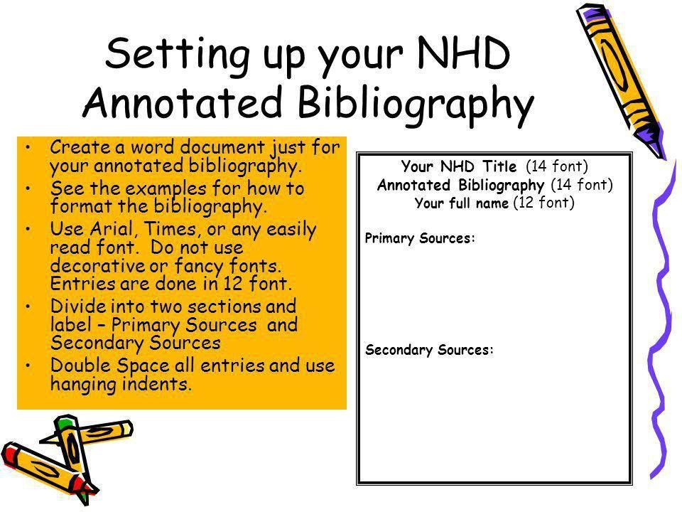Example of annotated bibliography title page