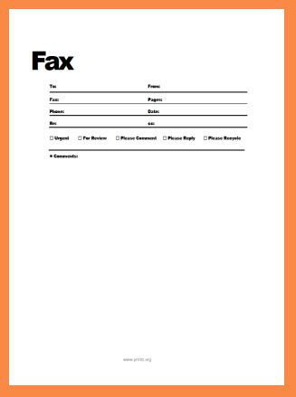 sample fax cover sheet | resume name