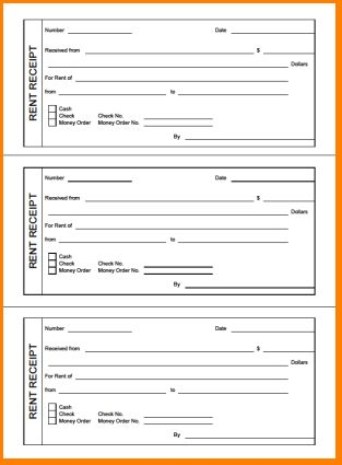 4+ printable rent receipt | Outline Templates