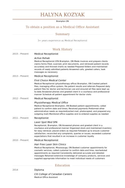 professional receptionist resume unforgettable receptionist