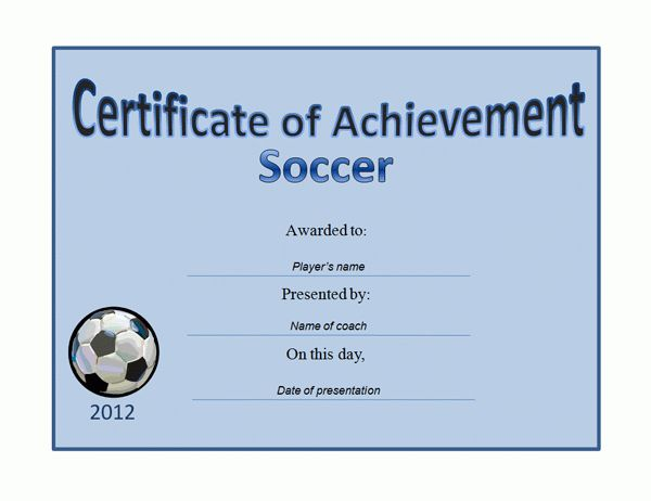 Soccer Award Certificate Templates Free | Best And Professional ...