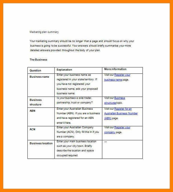 Territory Plan Template. Simple Marketing Plan Sample Simple ...
