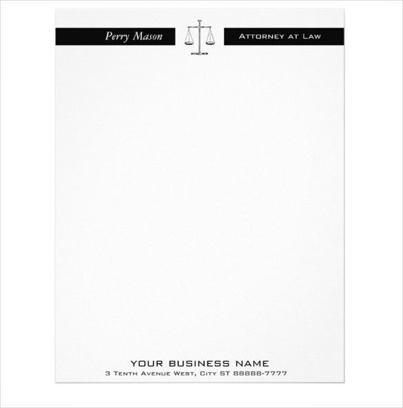 10+ Legal Letterhead Templates – Free Sample, Example Format ...