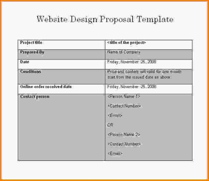 11+ website proposal template | Letter Template Word