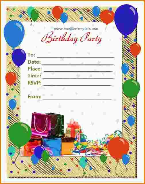 6+ birthdays invitation cards | paradochart