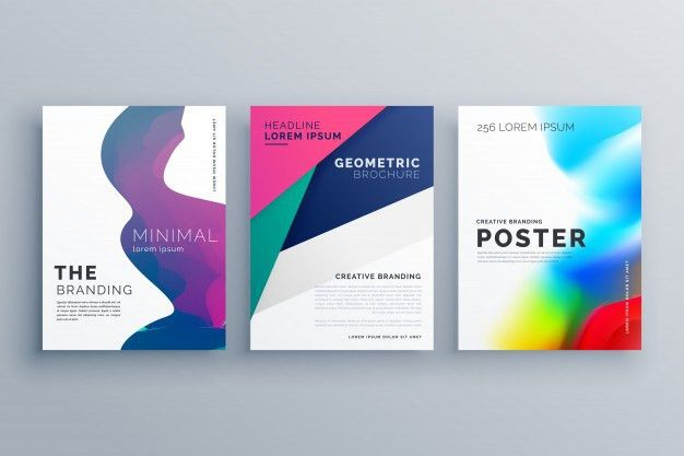 Colorful minimal business brochure templates Vector | Free Download