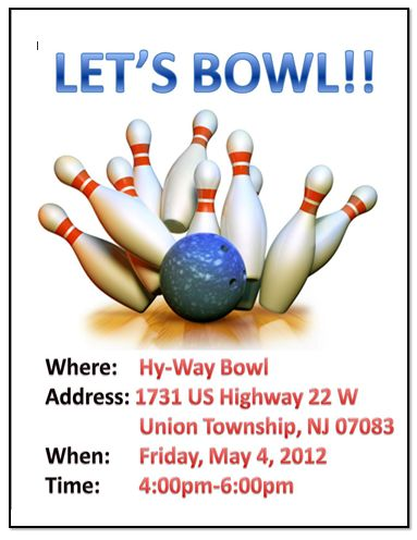 Bowling Game Flyer Templates – Free Template Downloads