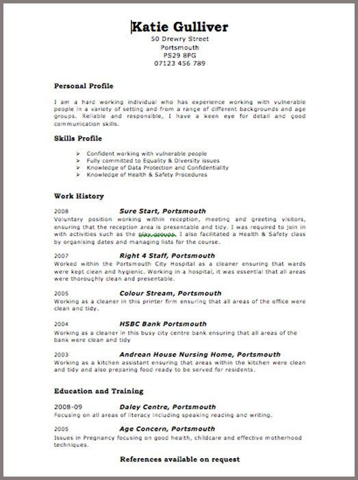 10 Using Online Resume Template Free | Writing Resume Sample