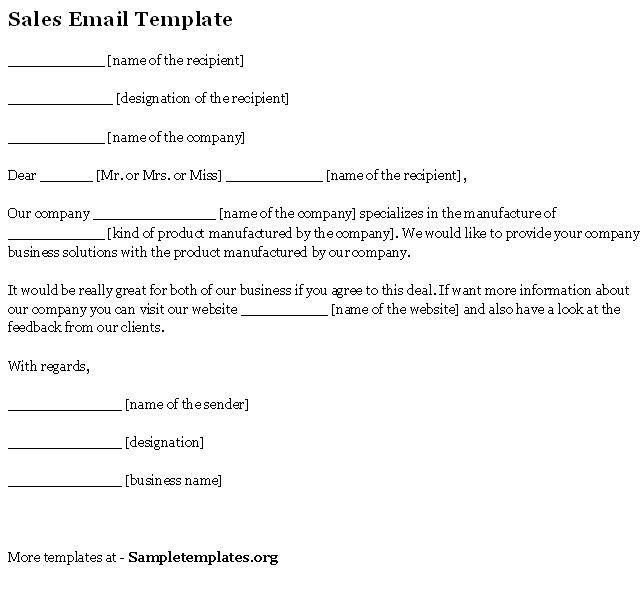Sample Sales Email. Follow-Up Sales Emails-Sample-3 3 Horrific ...