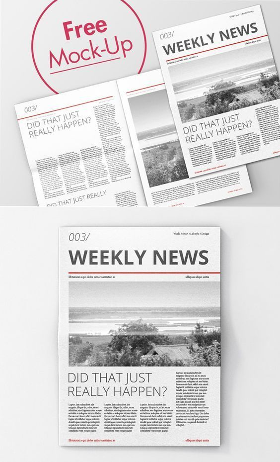 Free Newspaper Advertising Mockup Template | ShareTemplates ...