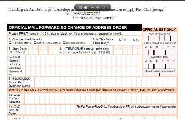 Good How To File Your USPS Change Of Address Form 3575   Change Of . Regard To Official Change Of Address Form