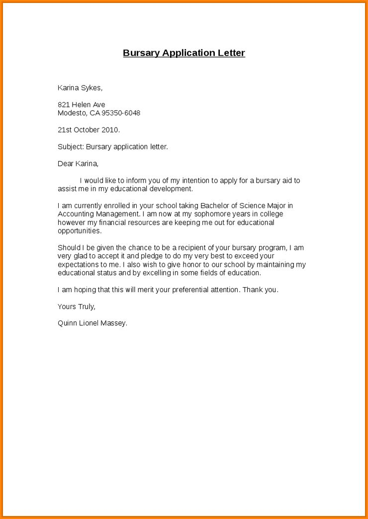 8+ sample of motivation letter for busary | receipts template