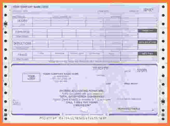 8+ Payroll Check Template | Marital Settlements InformationPayroll ...