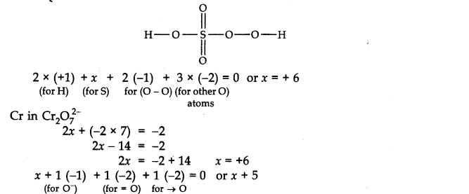 CBSE Class 11th Chemistry Solutions Chapter 8 Redox Reactions