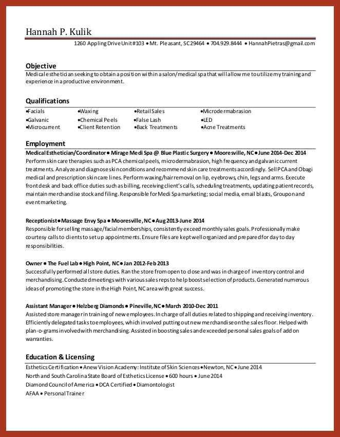 Esthetician Resume Examples. Software Test Engineer Resume Samples ...