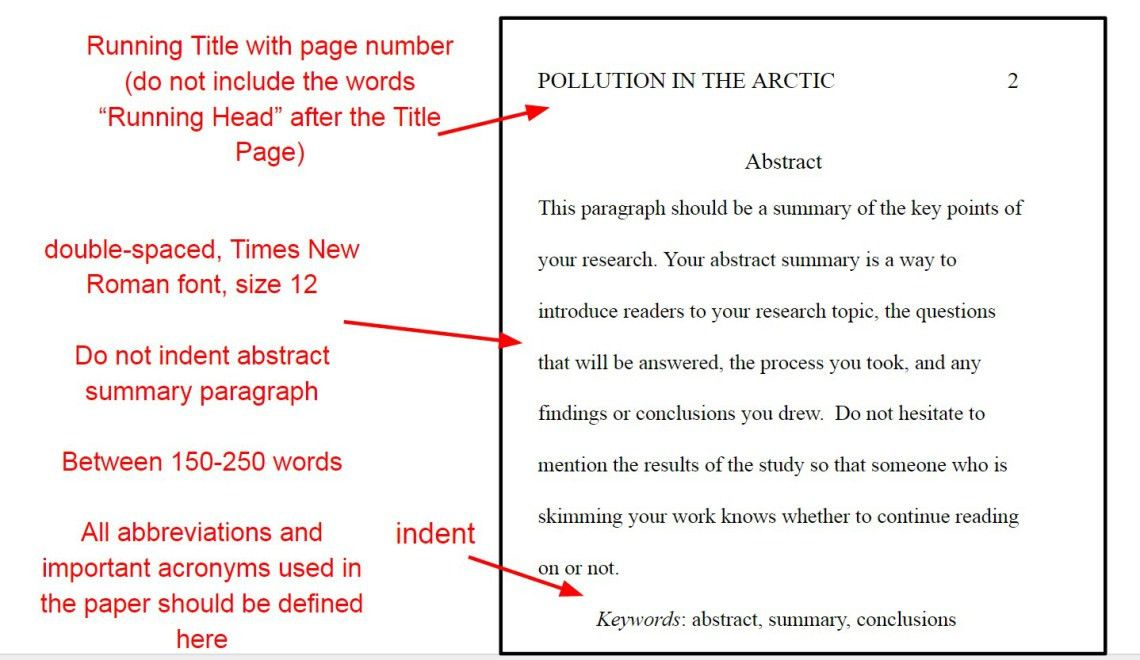 Apa style paper example abstract | Example apa style paper