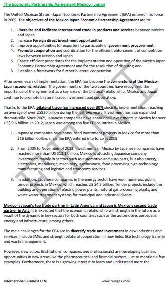 Mexico-Japan Economic Partnership Agreement
