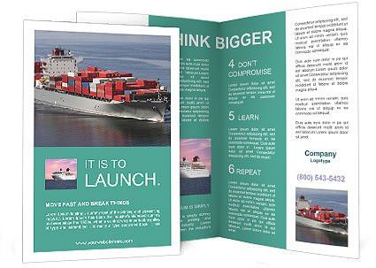 Shipping Brochure Template & Design ID 0000004796 - SmileTemplates.com