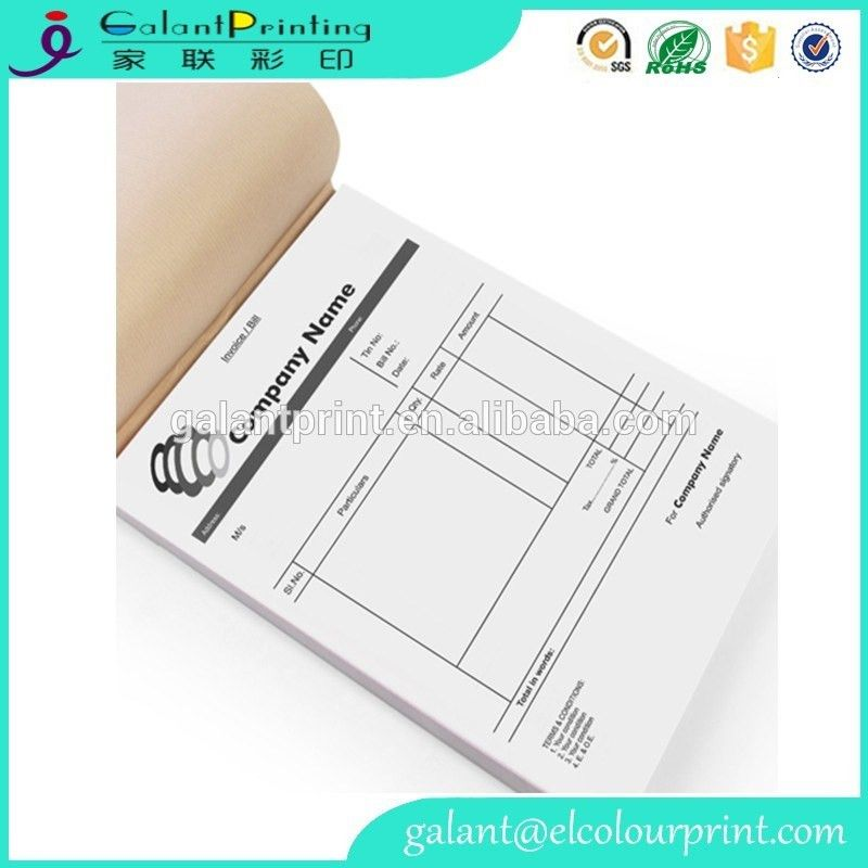 Custom Printing Receipt Bill Book Three Six Copy For Cash Memo ...